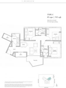 One-Meyer-East-Coast-floorplan-3-bedroom-type-C